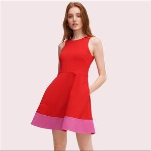 Kate Spade Color Block Ponte A Line Dress